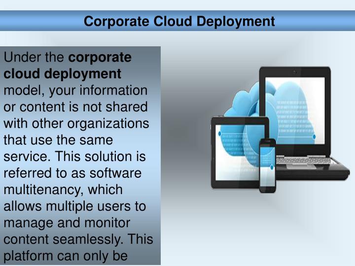 Corporate Cloud Deployment