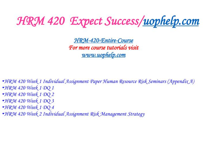 Hrm 420 expect success uophelp com1