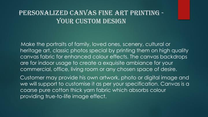 Personalized canvas fine art printing your custom design
