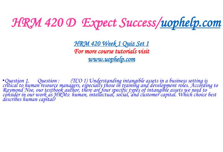Hrm 420 d expect success uophelp com2