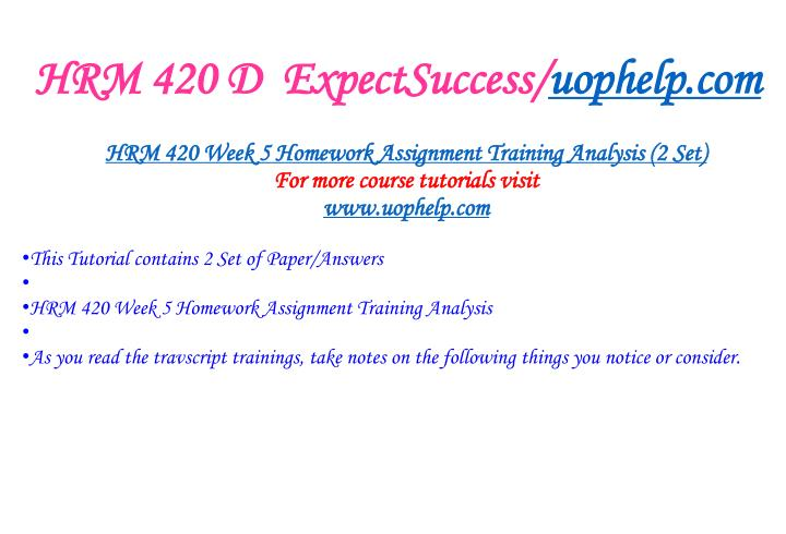HRM 420 D  ExpectSuccess