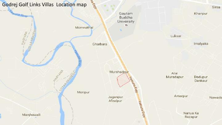 Godrej Golf Links Villas  Location map