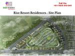 rise resort residences site plan