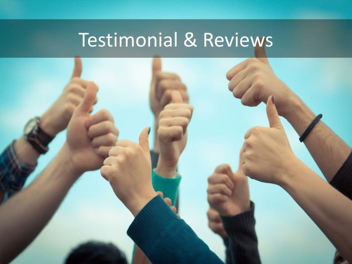 Testimonial & Reviews