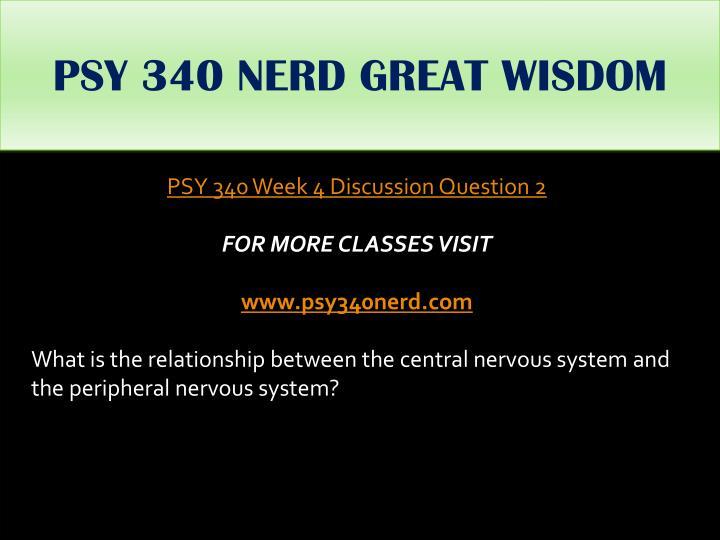 PSY 340 NERD GREAT WISDOM