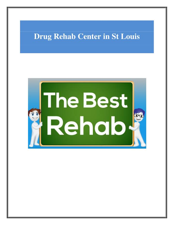 Drug Rehab Center in St Louis