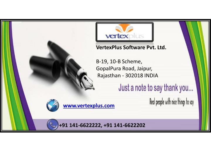 VertexPlus Software Pvt. Ltd.
