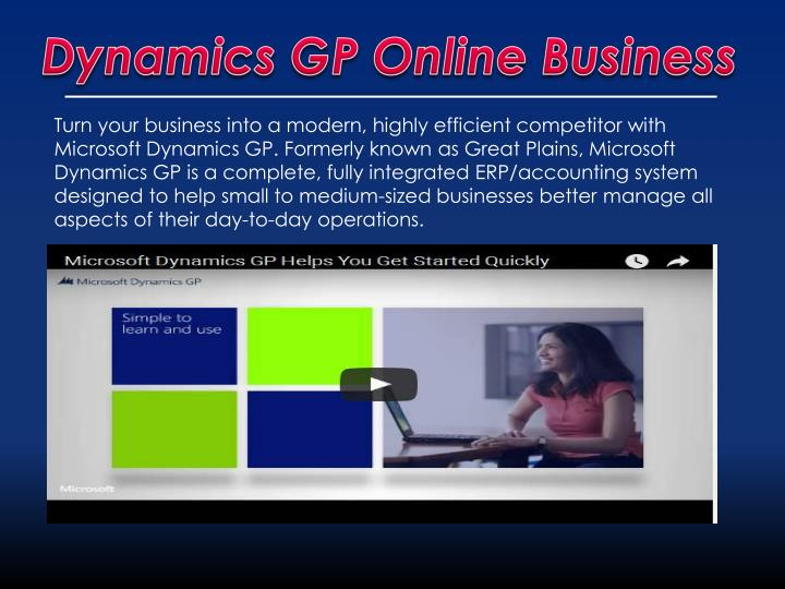Dynamics GP Online Business