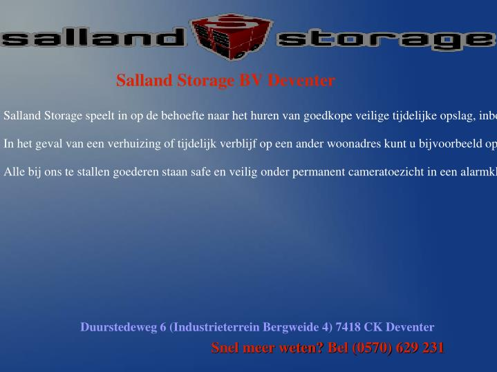 Salland Storage BV Deventer