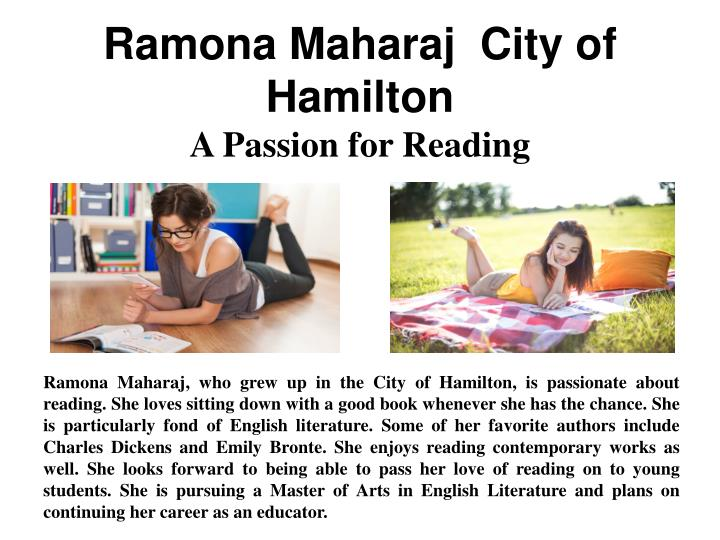 Ramona Maharaj  City of Hamilton