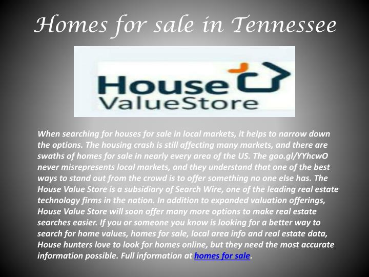 Homes for sale in tennessee