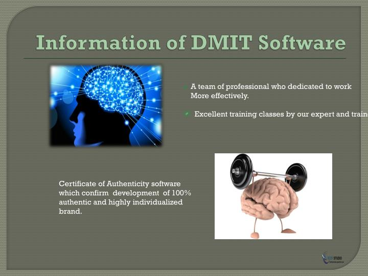 Information of dmit software