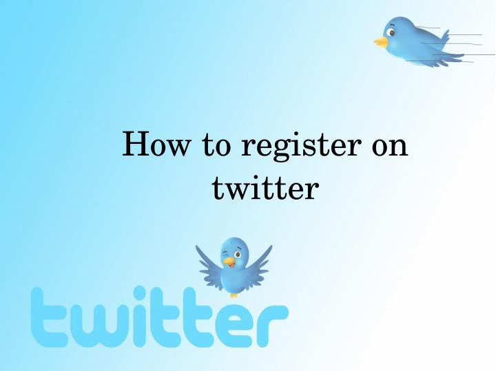 How to register on