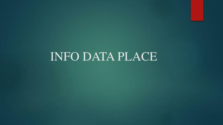 Info data place
