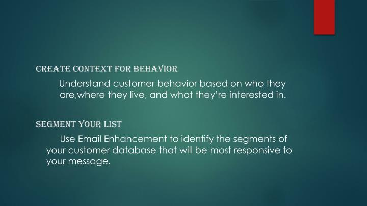 Create context for behavior