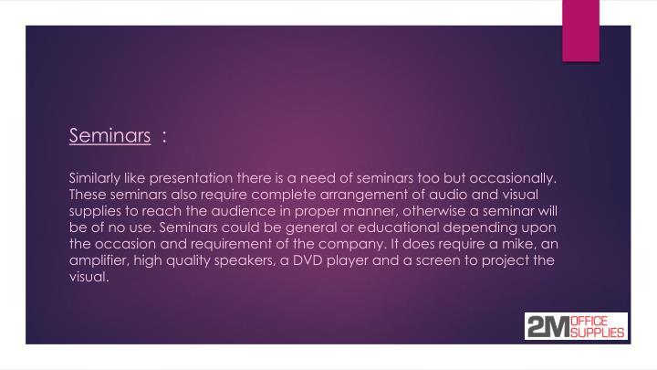 Seminars :