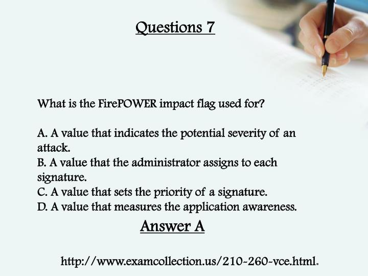 Questions 7