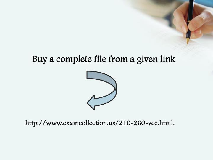Buy a complete file from a given link