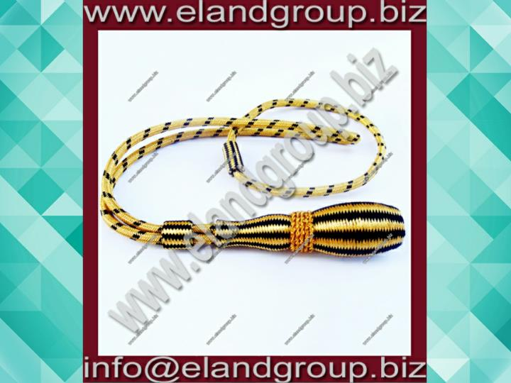 Black gold sword knot