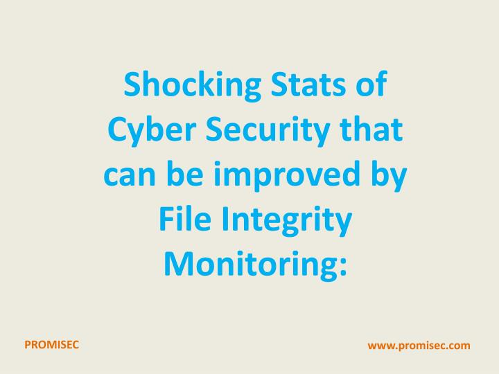 Shocking Stats of Cyber Security that can be improved by File Integrity Monitoring: