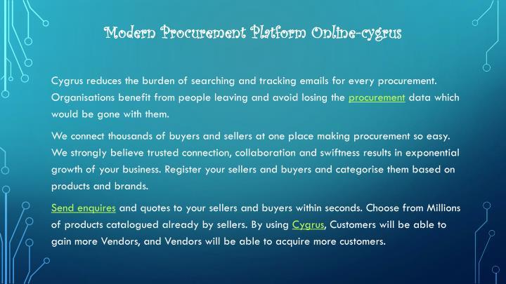 Modern Procurement Platform Online-