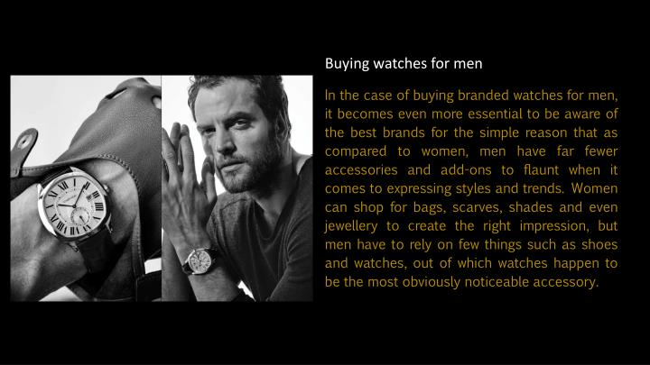 Buying watches for men