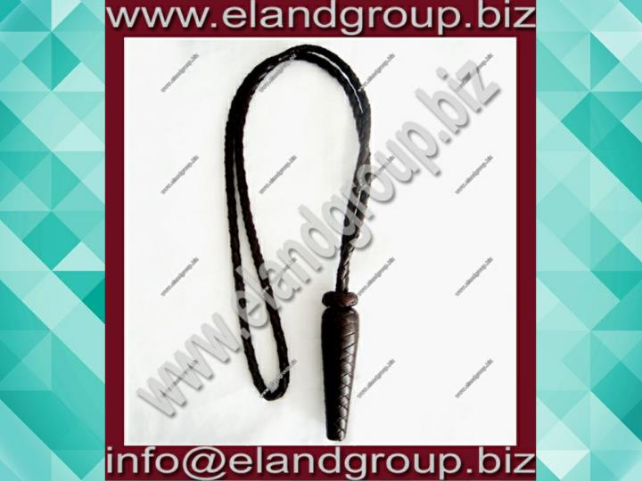 Dark brown braided leather sword knot