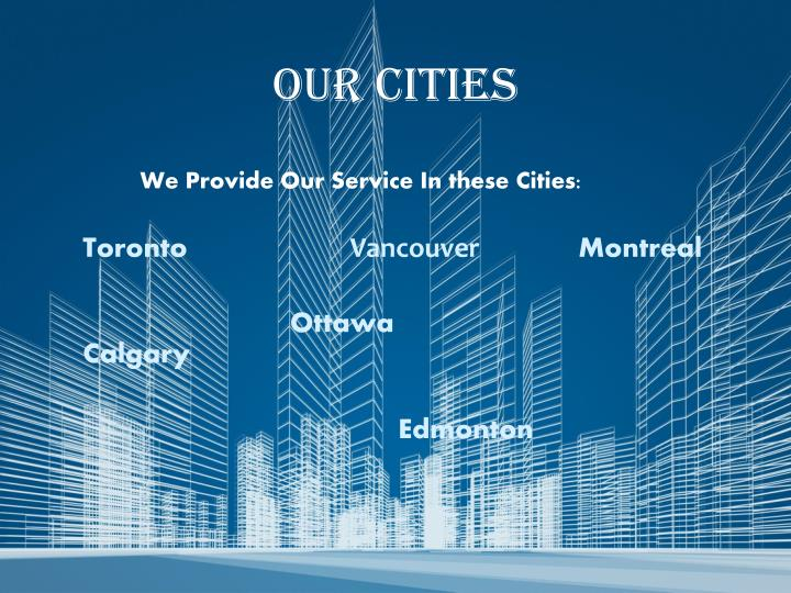 Our cities