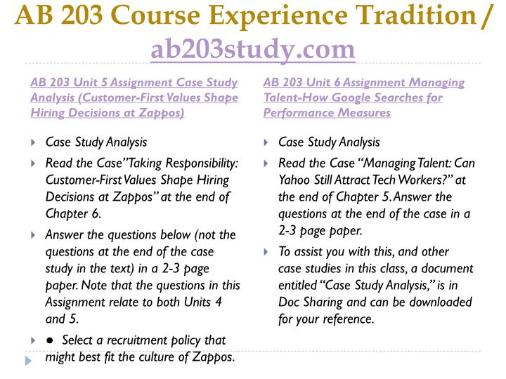 AB 203 Course