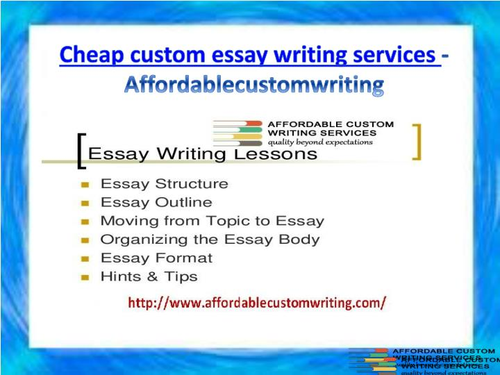 Cheap custom essay writing services affordablecustomwriting