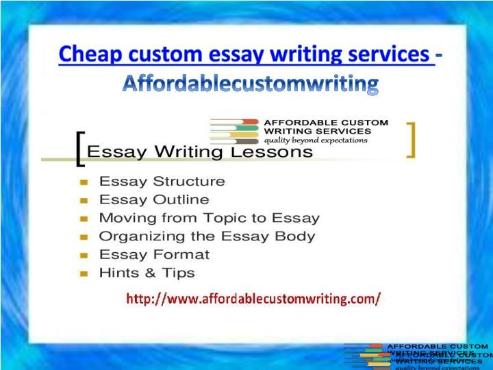 Cheap custom essay writing