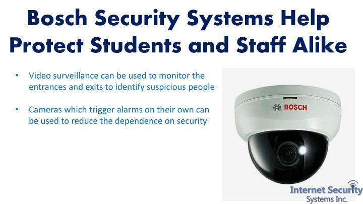 Bosch Security Systems Help Protect Students and Staff Alike