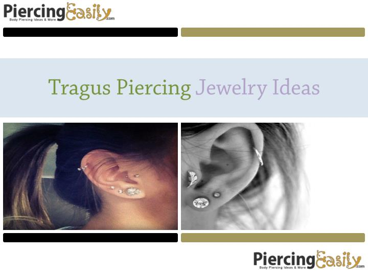Tragus piercing jewelry ideas