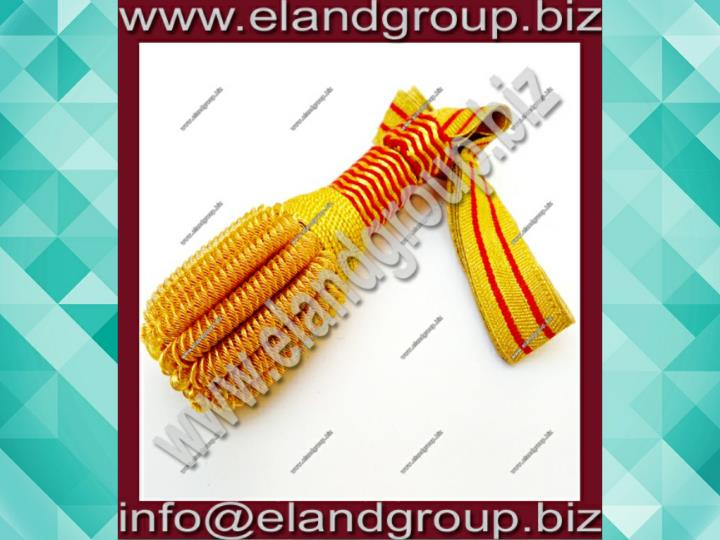 Gold red sword knot