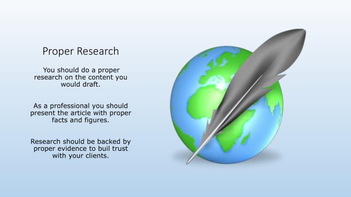 Proper Research