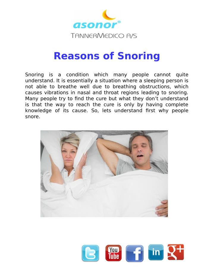 Reasons of Snoring