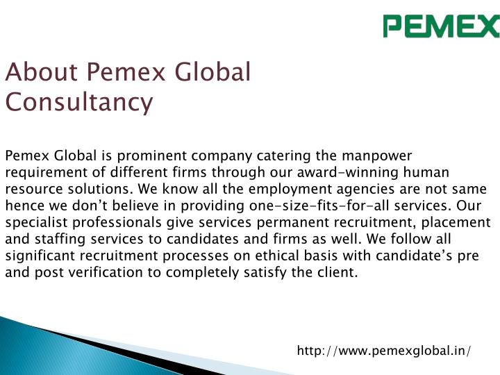 About Pemex Global Consultancy