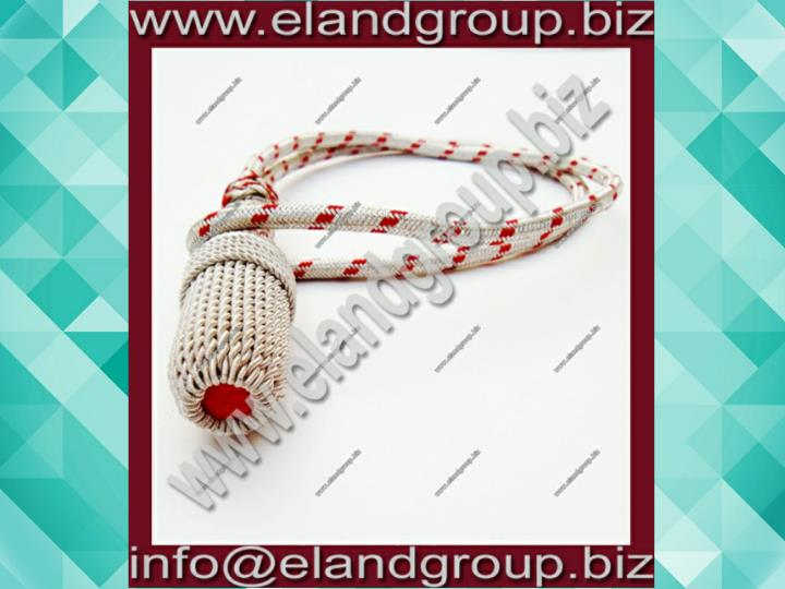 Silver red sword knot