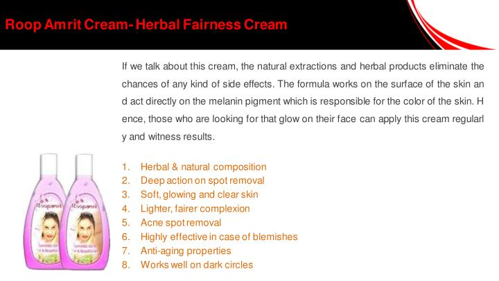 Roop Amrit Cream- Herbal Fairness Cream