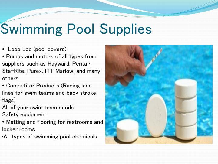 Swimming Pool Supplies