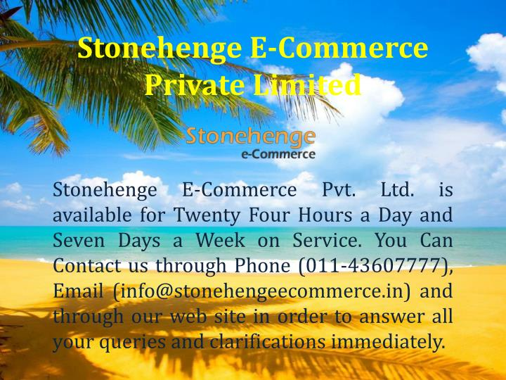 Stonehenge E-Commerce