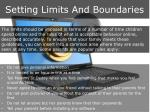 setting limits and boundaries