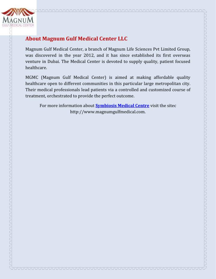 About Magnum Gulf Medical Center LLC