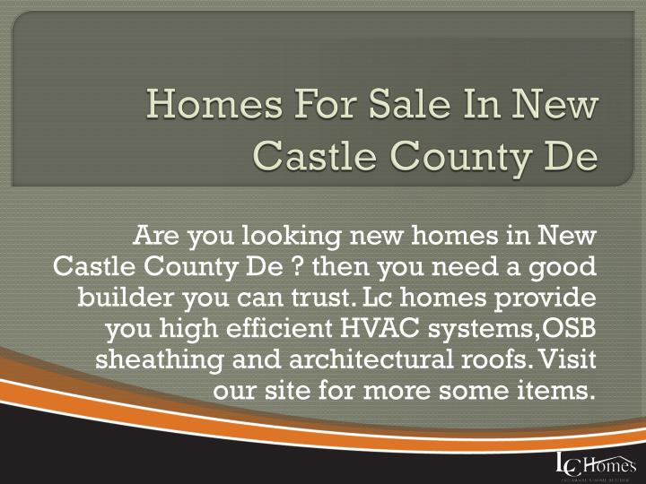Homes For Sale In New Castle County De
