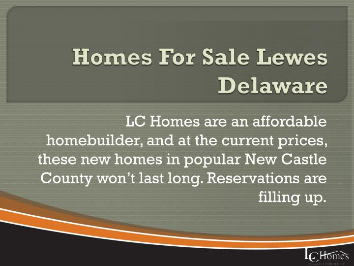 Homes for sale lewes delaware