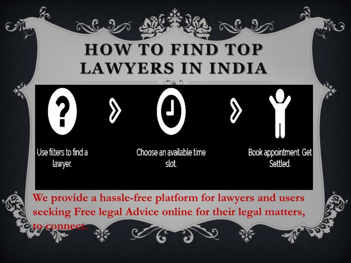 How to find top lawyers in India