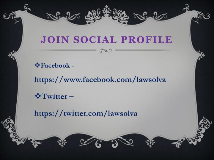 Join Social Profile