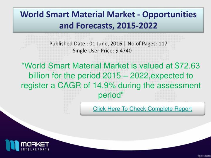 World Smart Material Market - Opportunities and Forecasts, 2015-2022