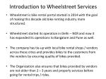 introduction to wheelstreet services