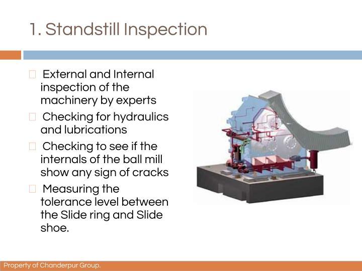 1. Standstill Inspection